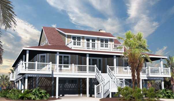 Nags Head Cottage Front Left