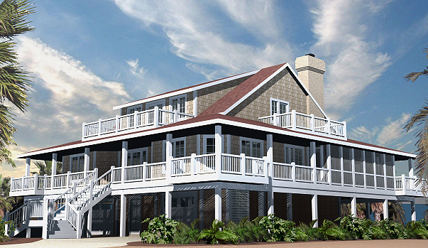 Nags head cottage house plans