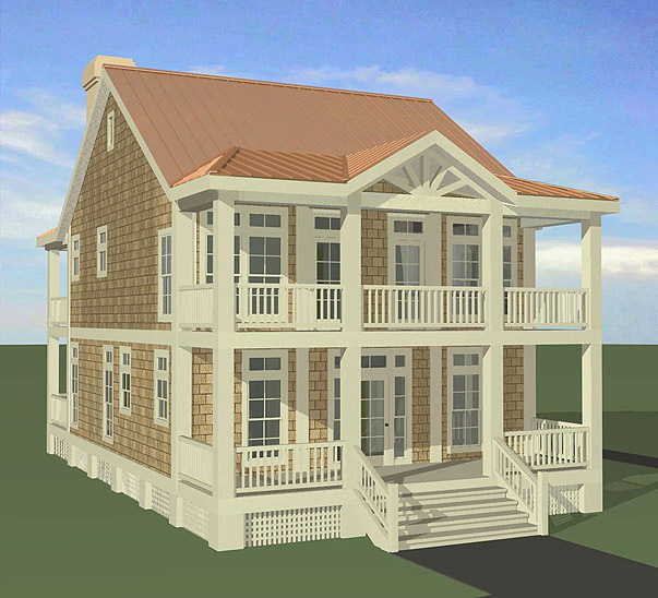Porches Cottage Standard Crawlspace Foundation 2241 Sf