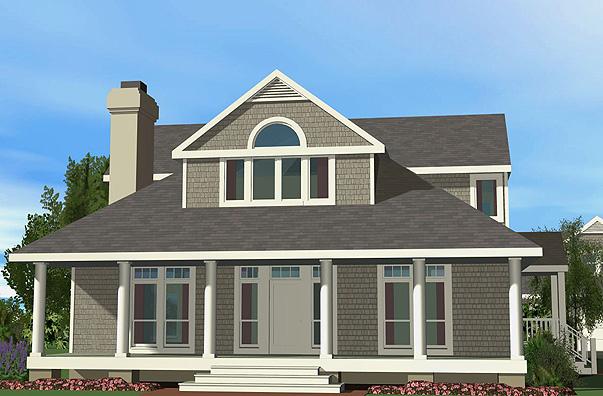 Shingle Cottage Front