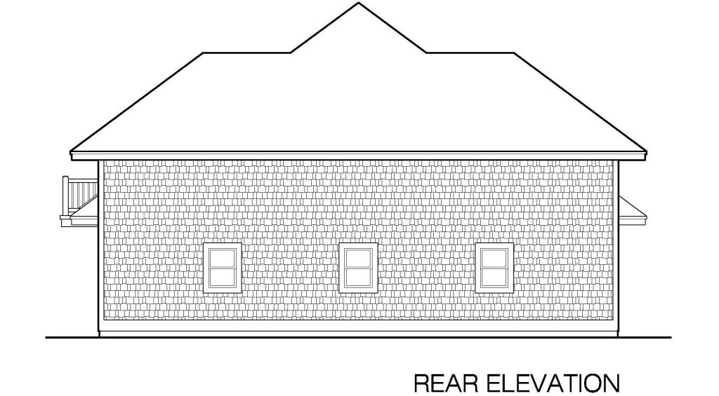 001 - 39' RV Garage - 05 - Rear Elevation