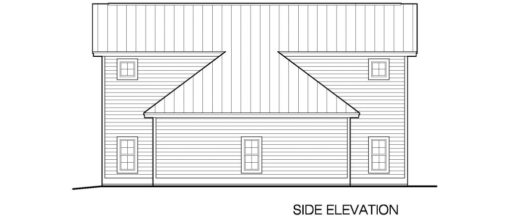 001 - 45' RV Garage - 04 - Side Elevation