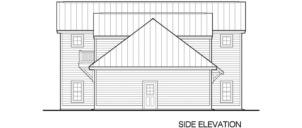 001 - 45' RV Garage - 06 - Side Elevation