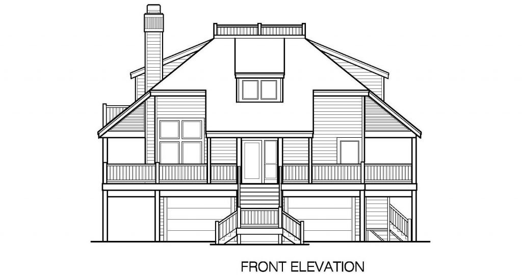 001 - Lookout Std - 5 - Front Elevation