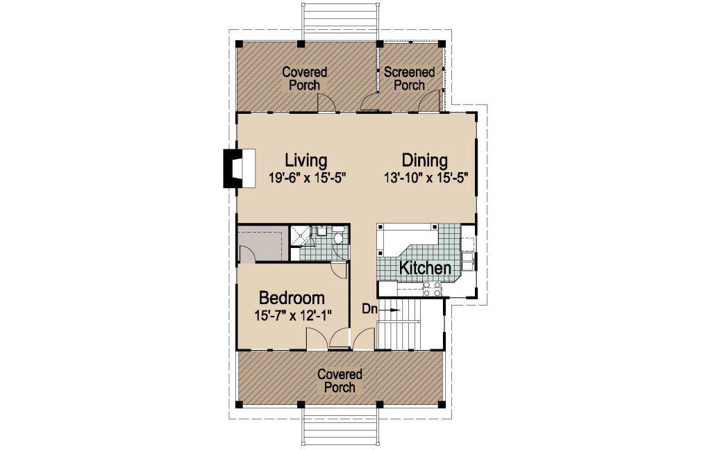 001 - Porches-Crlspace-3Bdrm - 2 - Second Floor