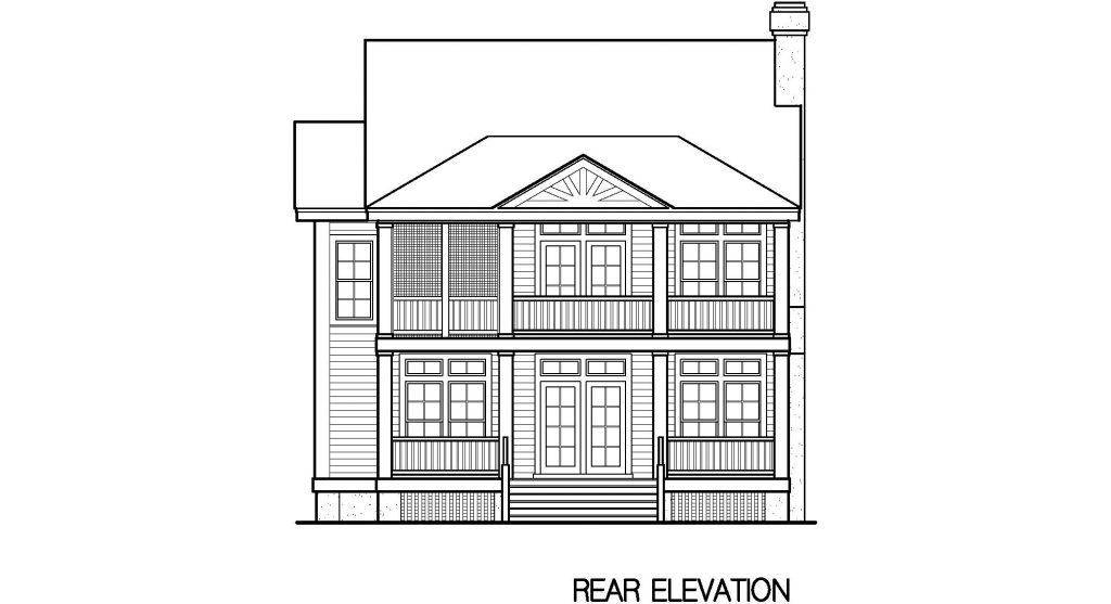 001 - Porches-Crlspace-3Bdrm - 5 - Rear Elevation