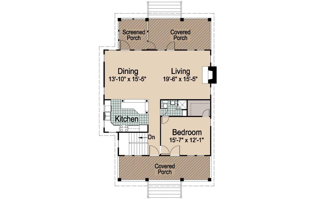 001 - Porches-Crlspace-3Bdrm - REV - 2 - Second Floor