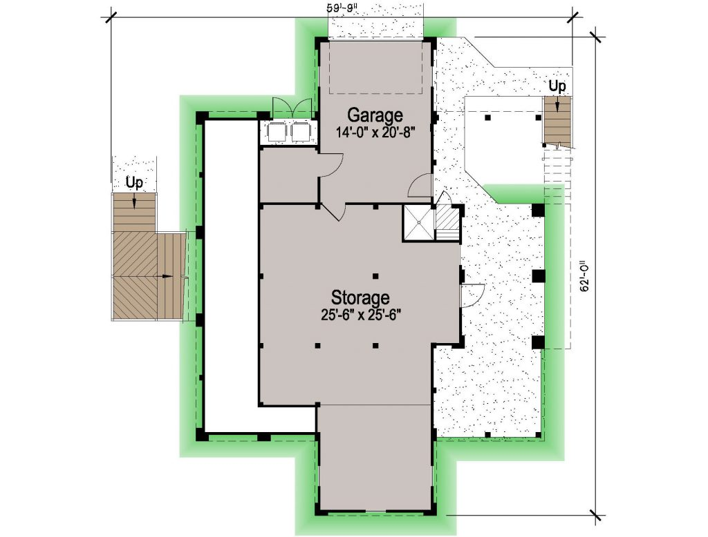 001 - Shelter-2117-Side Ent Gar - 1 - Ground Floor