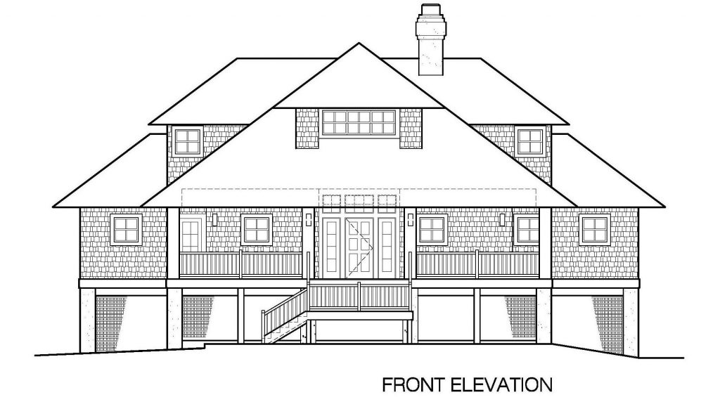 001 - Shelter-2117-Side Ent Gar - 4 - Front Elevation