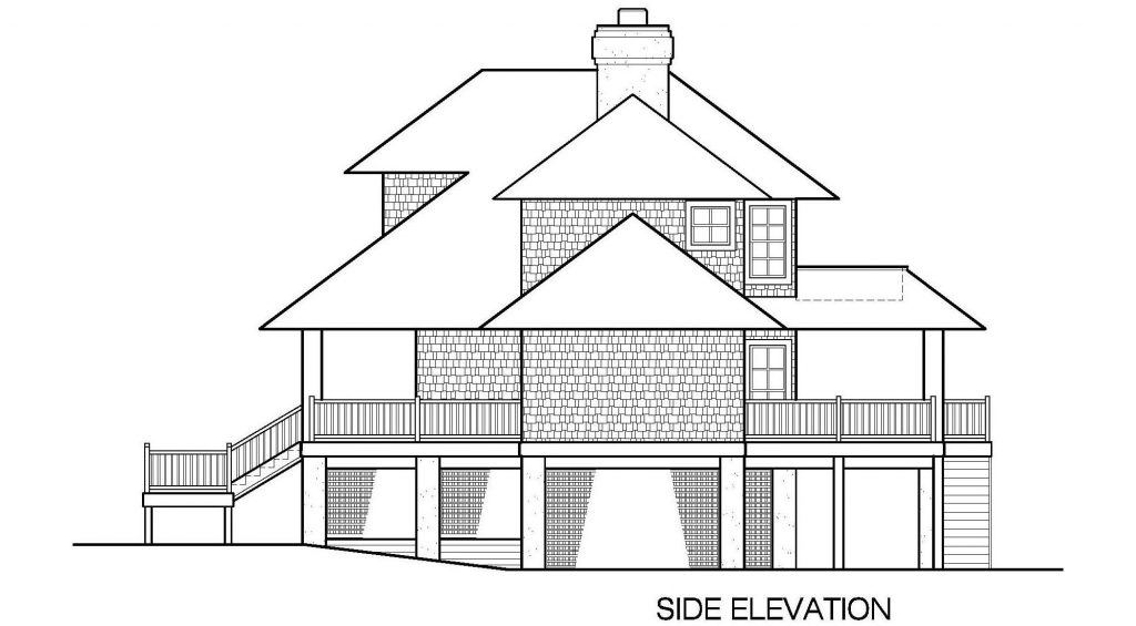 001 - Shelter-2117-Side Ent Gar - 5 - Side Elevation