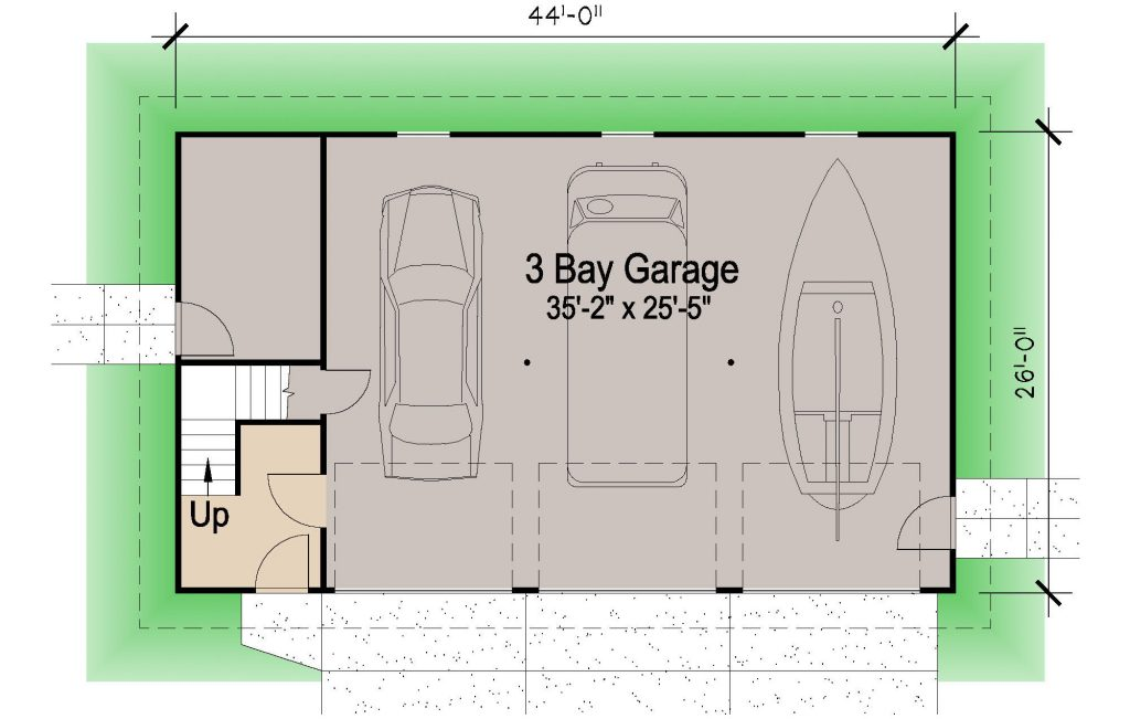 001 - Shingle Garage - 01 - Ground Floor