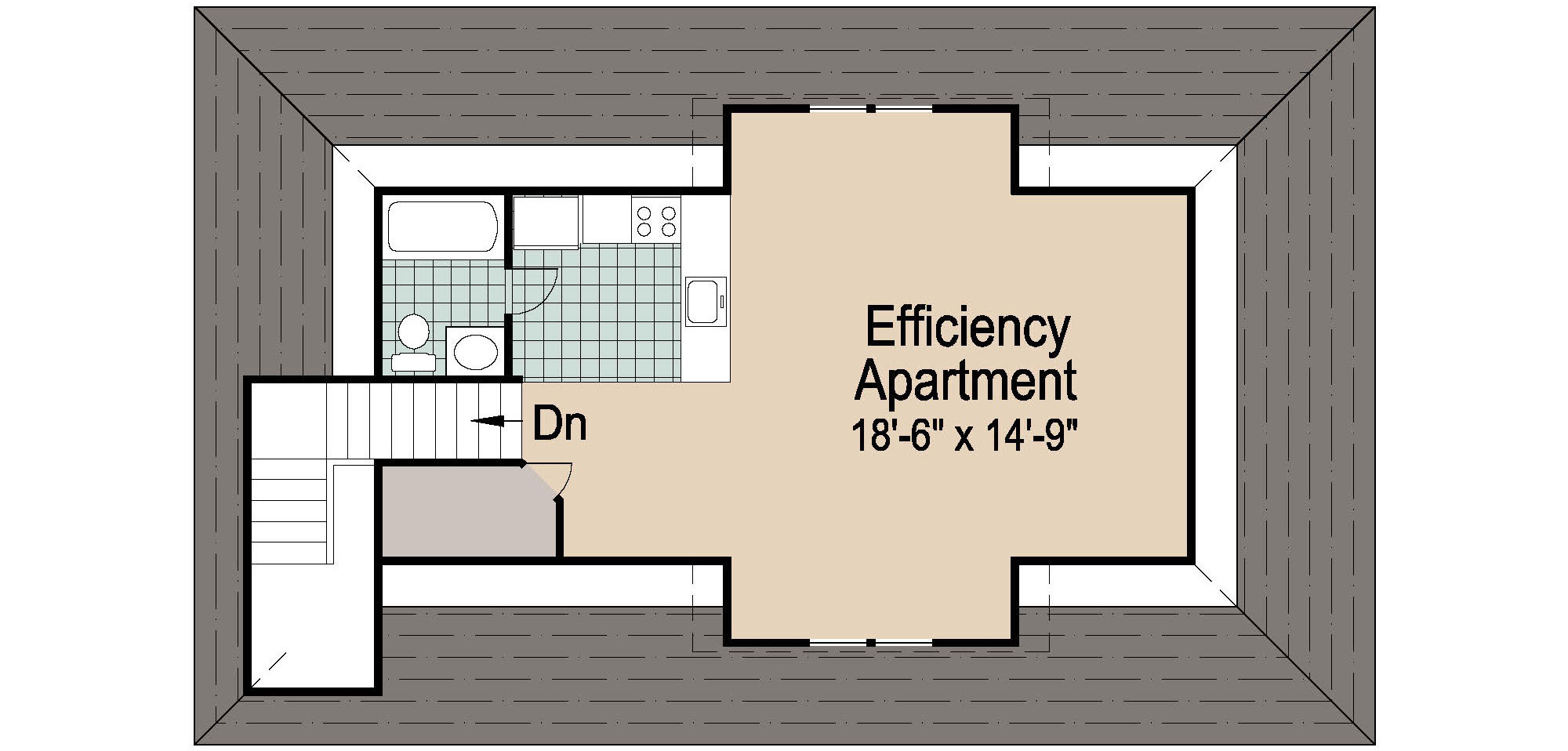 Motor Pool Floor Plan Shingle Garage With Loft 1728 Sf Southern Cottages