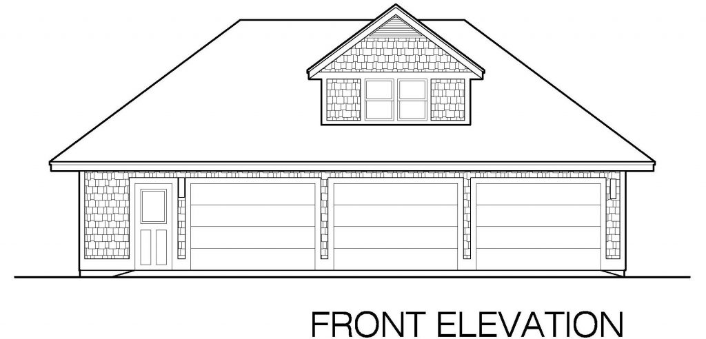 001-Shingle-Garage-03-Front-Elevation-1024x492 Small Southern Home Plans With Separate Garage on home plans with carport, home plans with fireplace, home plans with porches detached garages, home plans with family room, home plans with laundry, home plans with 4 bedrooms, home plans with conservatory, home plans with den, home plans with barn,