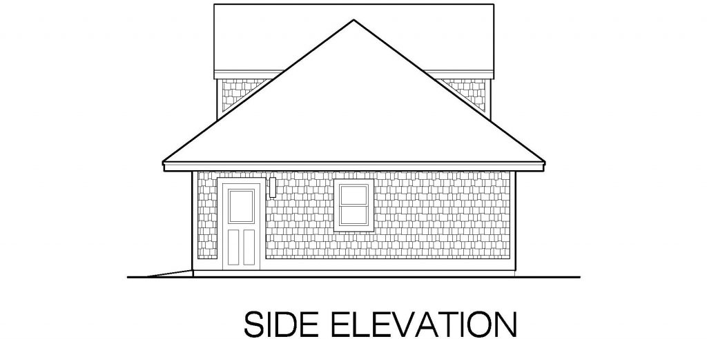 001 - Shingle Garage - 04 - Side Elevation