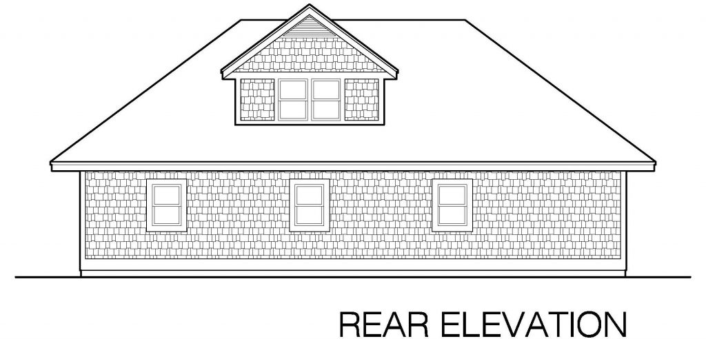 001 - Shingle Garage - 05 - Rear Elevation