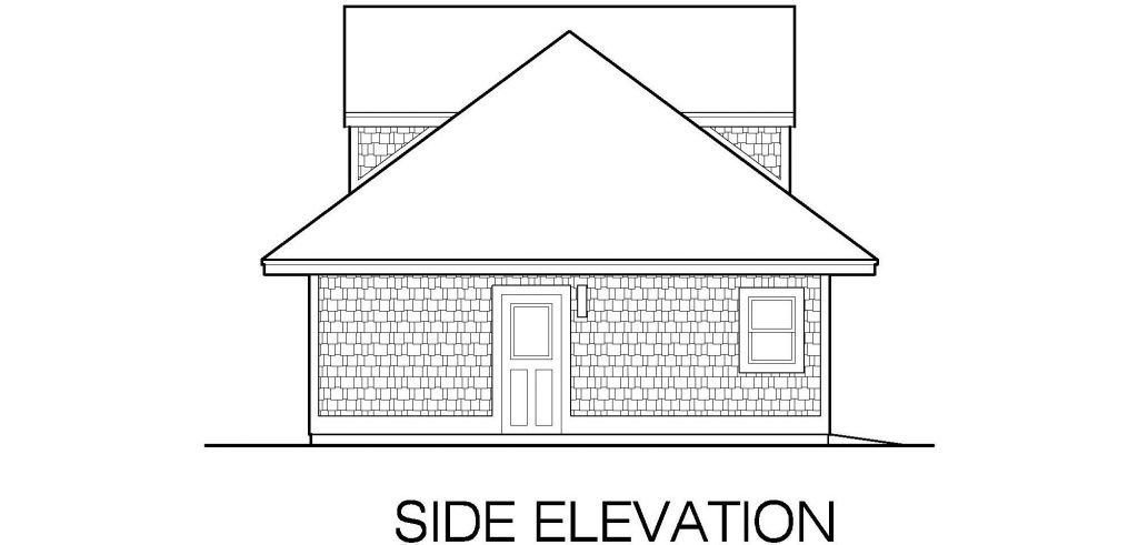 001 - Shingle Garage - 06 - Side Elevation