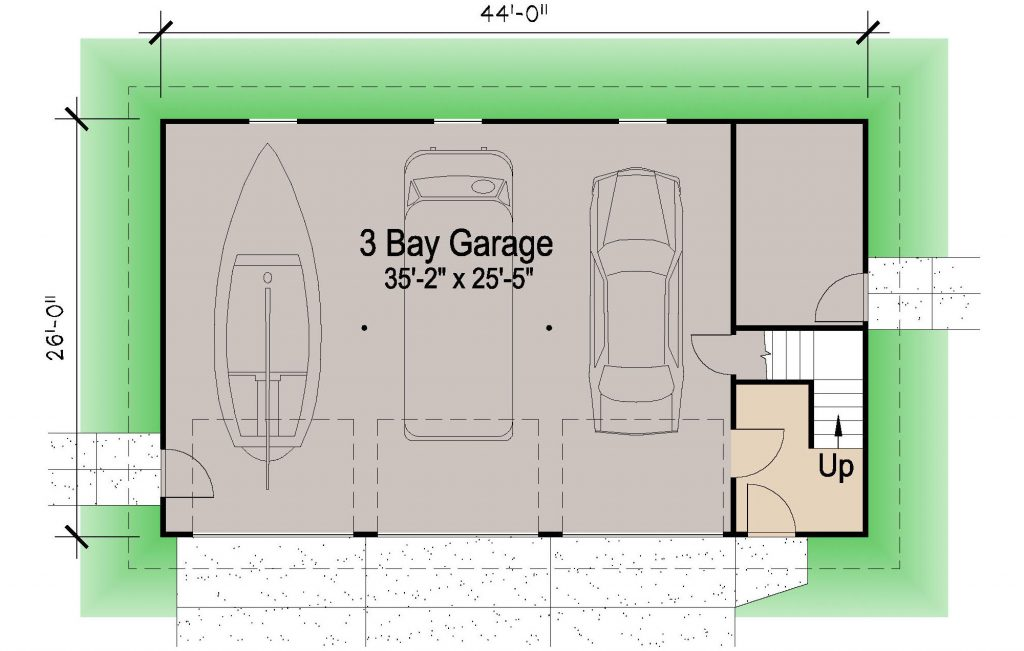 001 - Shingle Garage - REV - 01 - Ground Floor