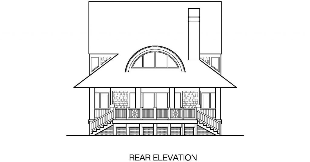 001 - Winds-Crwlspace - 6 - Rear Elevation