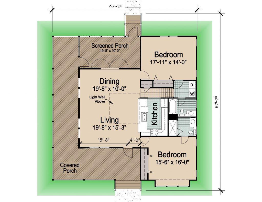 002 - Hip-1423-2Bdrm-WAP - 1 - Floor Plan
