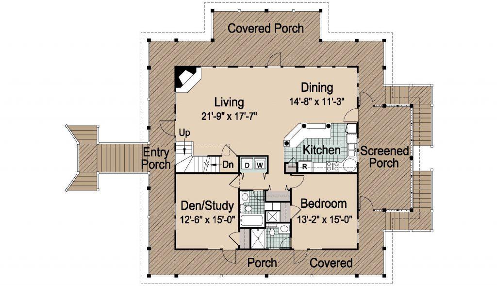 002 - Island-2058-Pile-Frt-Ent - REV - 2 - First Floor