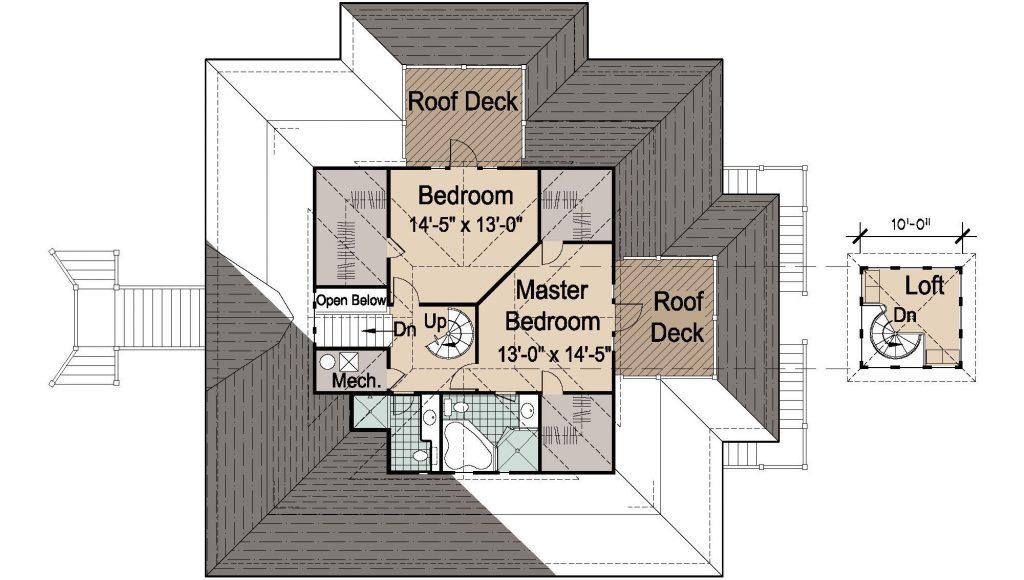 002 - Island-2058-Pile-Frt-Ent - REV - 3 - Second Floor