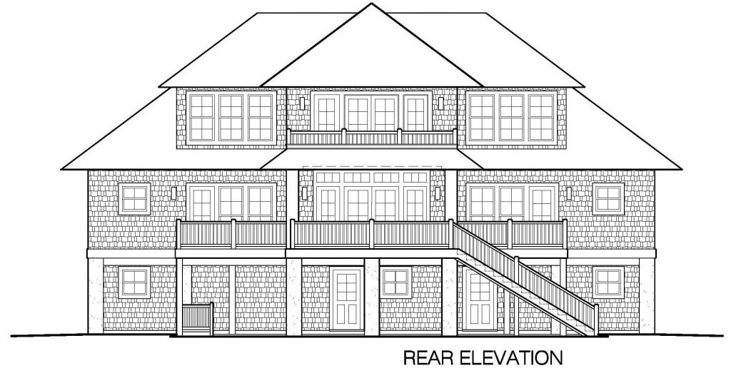 002 - Shelter-2466-Side Ent Gar-Elevator - 6 - Rear Elevation
