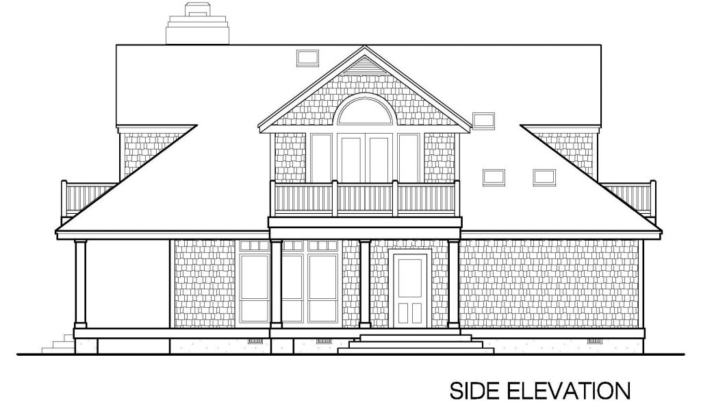 002 - Shingle Balcony - 4 - Side Elevation