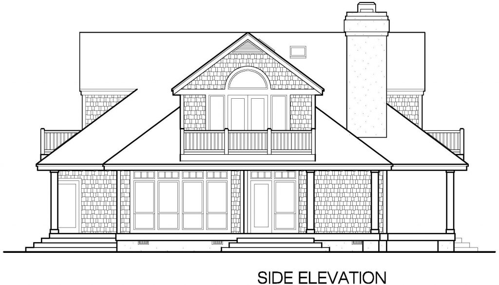 002 - Shingle Balcony - 6 - Side Elevation