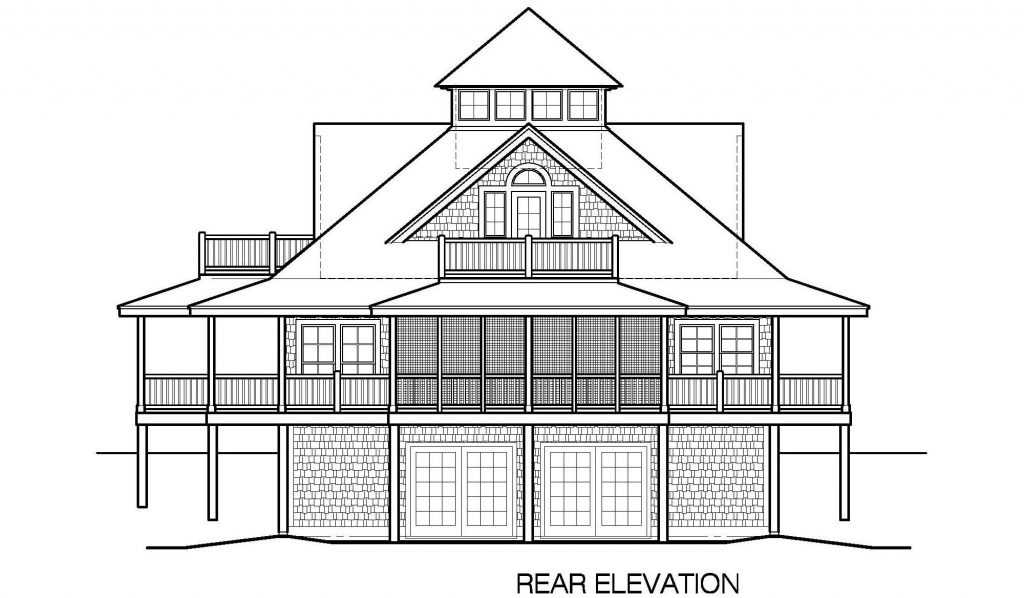 004 - Island-2470-Basement - 6 - Rear Elevation