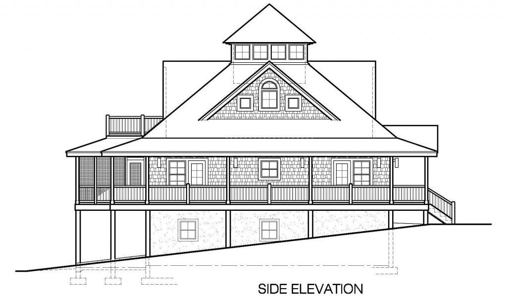 004 - Island-2470-Basement - 7 - Side Elevation