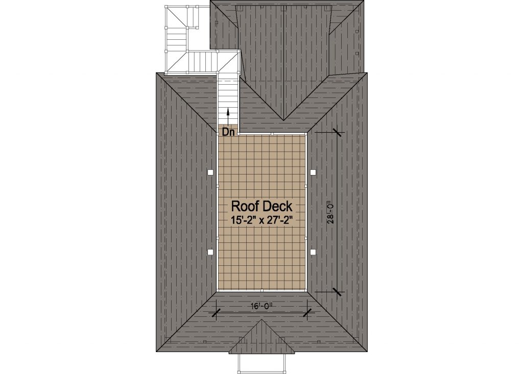 004 - Porches-Pile-Elevator-Roofdeck - 4 - Roof Plan