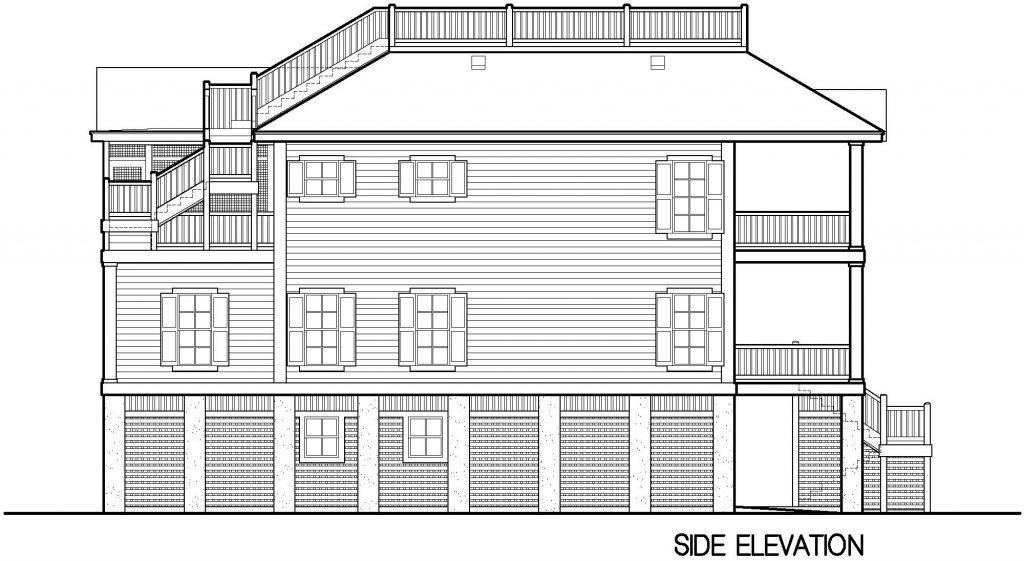 004 - Porches-Pile-Elevator-Roofdeck - 8 - Side Elevation