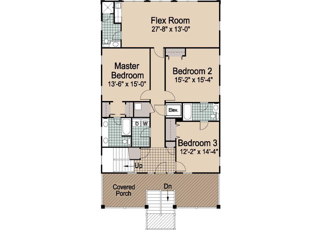 004 - Porches-Pile-Elevator-Roofdeck - REV - 2 - First Floor