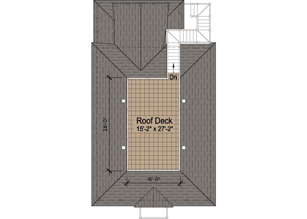 004 - Porches-Pile-Elevator-Roofdeck - REV - 4 - Roof Plan