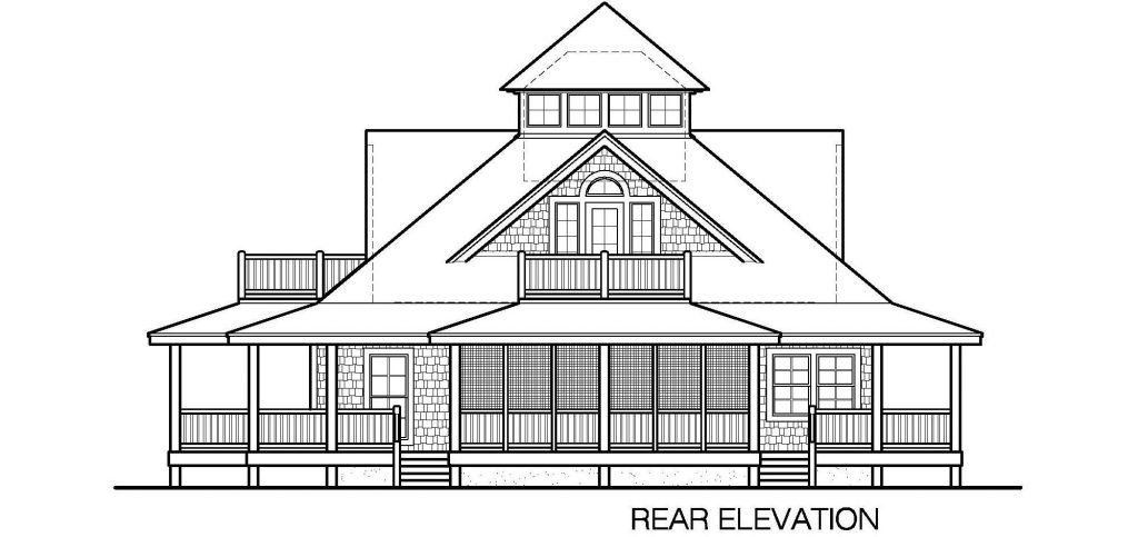 005 - Island-2470-Crawlspace - 5 - Rear Elevation