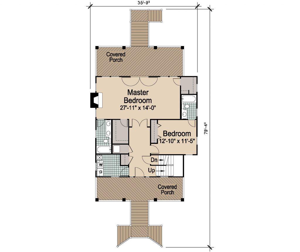 005 - Porches-Pile-3Bdrm-Side-Ent - 2 - First Floor