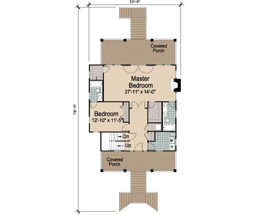 005 - Porches-Pile-3Bdrm-Side-Ent - REV - 2 - First Floor