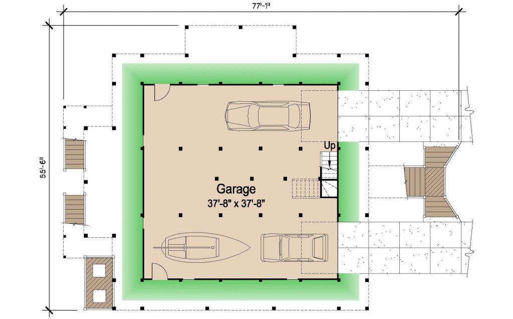 006 - Island-2470-Pile-Frt-Ent - 1 - Ground Floor