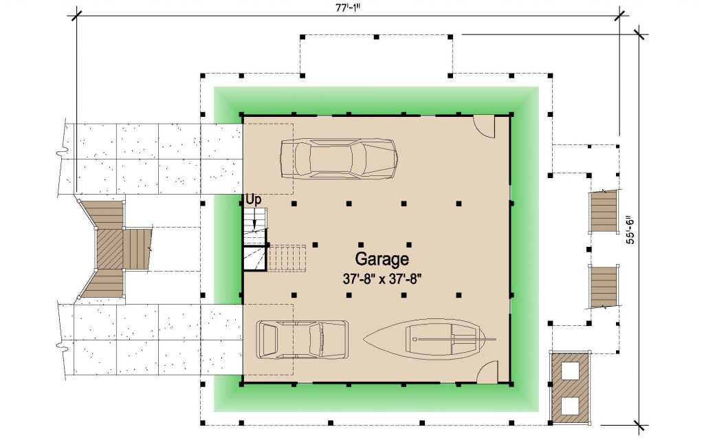 006 - Island-2470-Pile-Frt-Ent - REV - 1 - Ground Floor