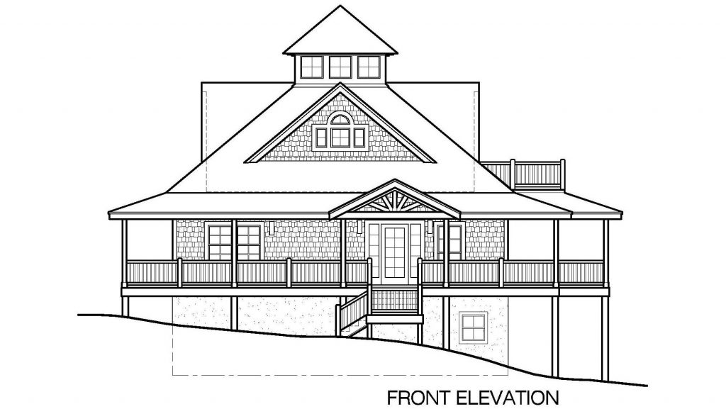 007 - Island-2058-Basement - 4 - Front Elevation