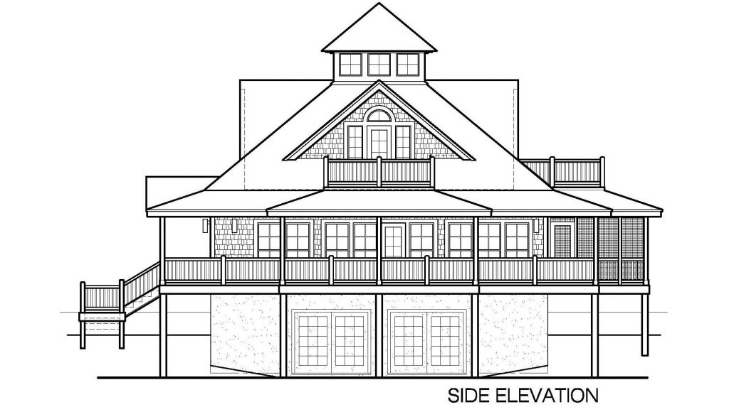 007 - Island-2058-Basement - 5 - Side Elevation