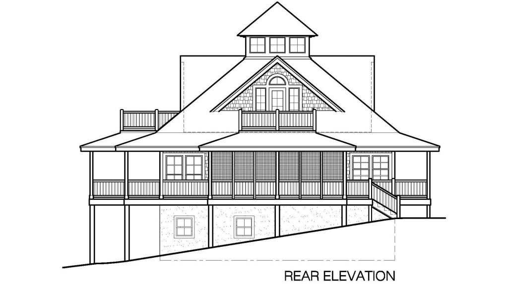 007 - Island-2058-Basement - 6 - Rear Elevation