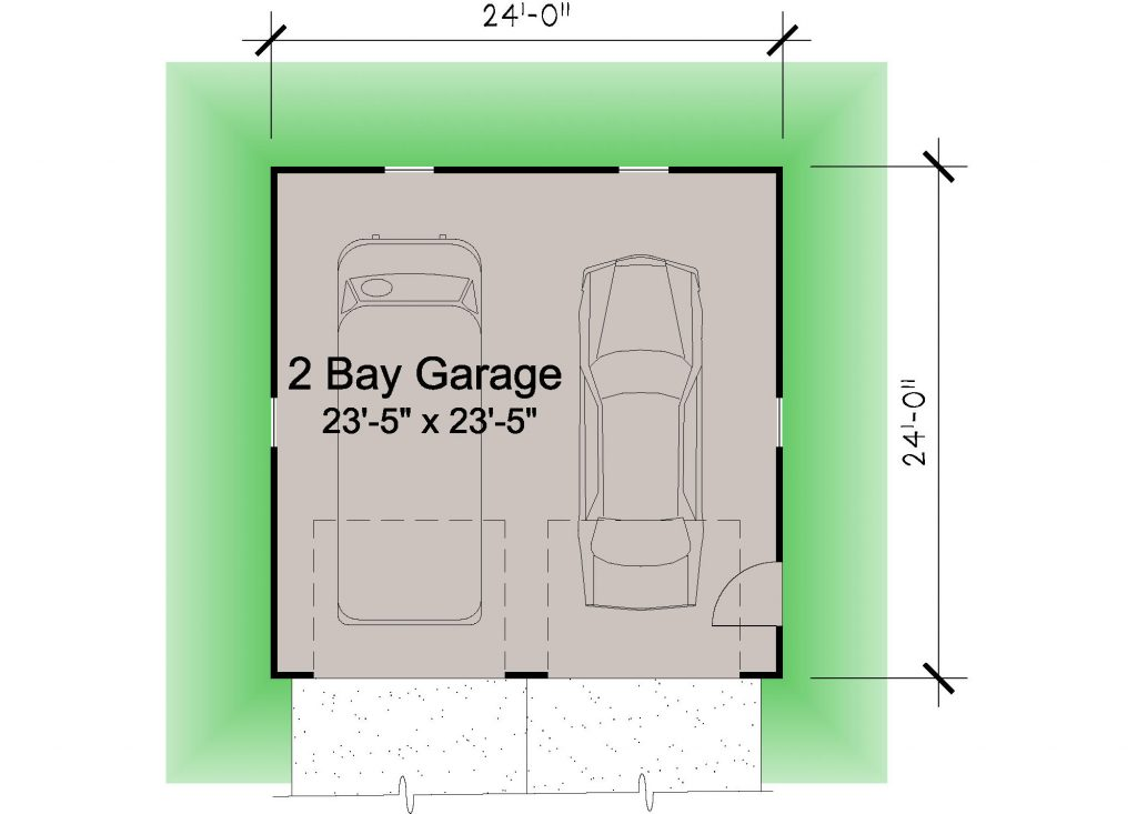 01 - Hip Garage - 1 - floor plan