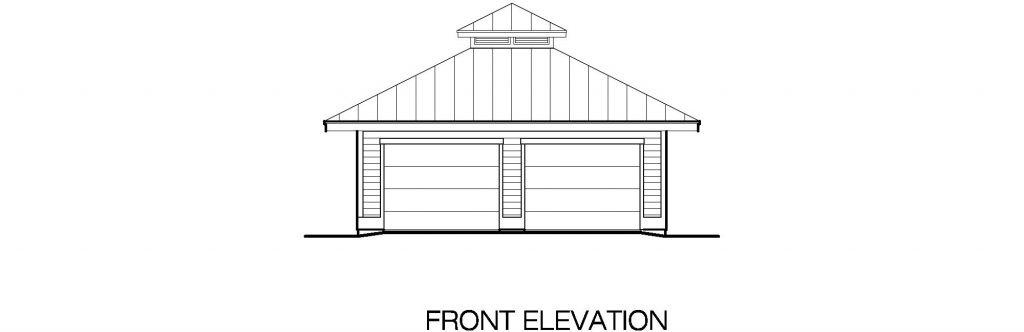 01 - Hip Garage - 2 - front elevation