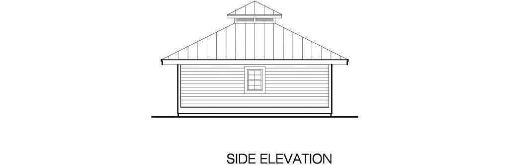 01 - Hip Garage - 5 - side elevation