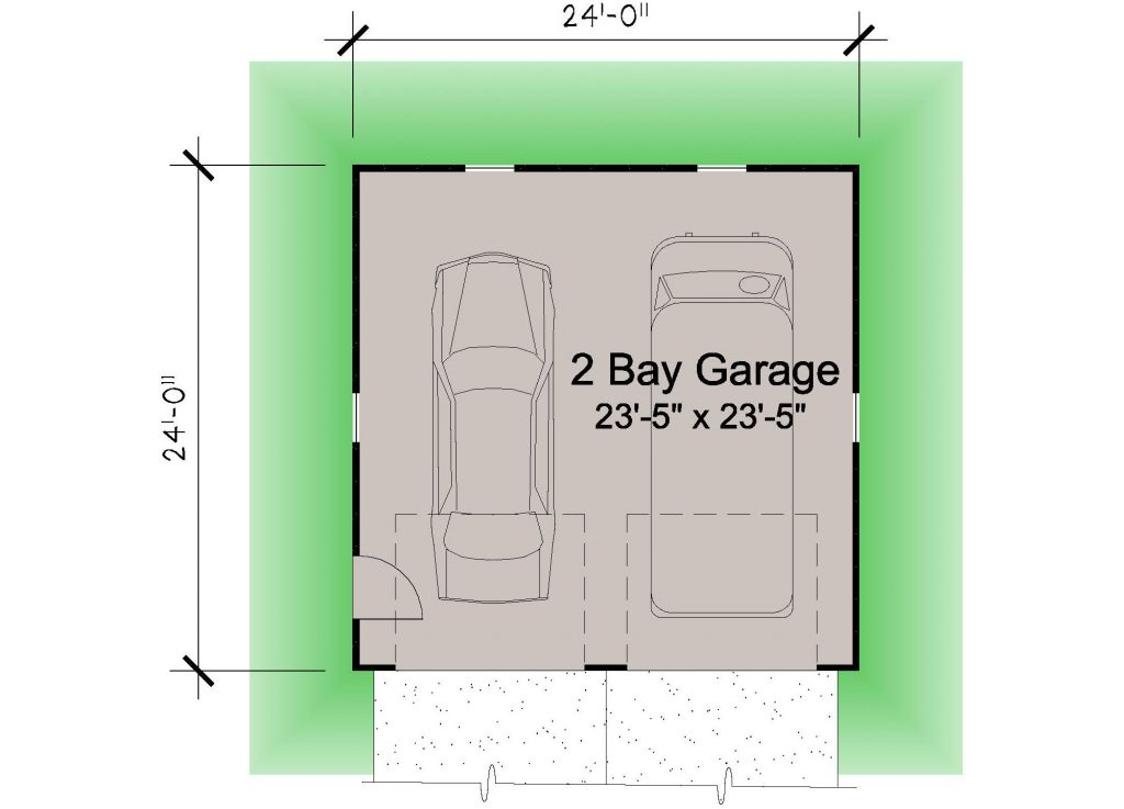 01 - Hip Garage - REV - 1- floor plan