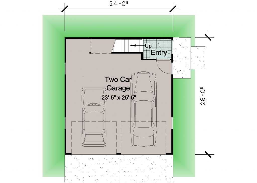 02 - Porches Garage - 1 - ground floor