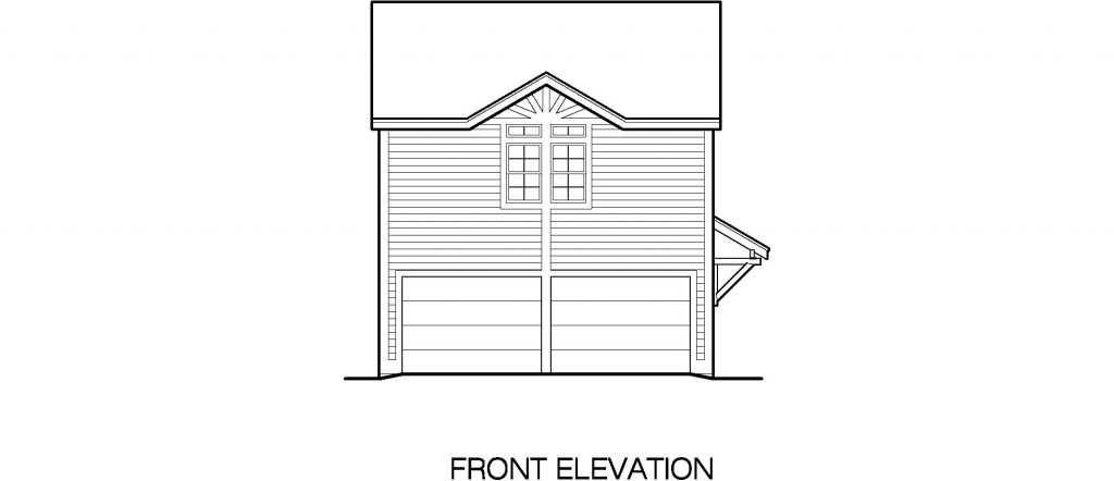 02 - Porches Garage - 3 - front elevation