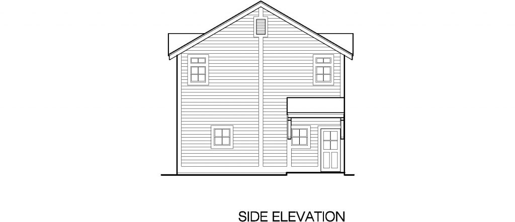 02 - Porches Garage - 4 - side elevation