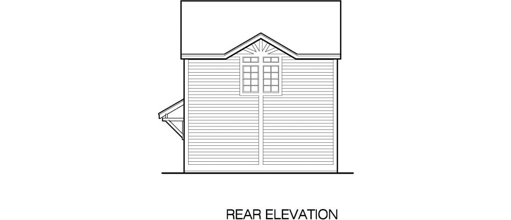 02 - Porches Garage - 5 - rear elevation